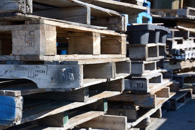 重機用の木台