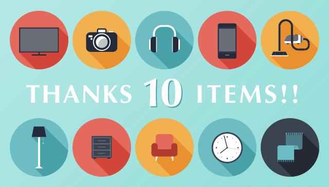 THANKS 10 ITEMS